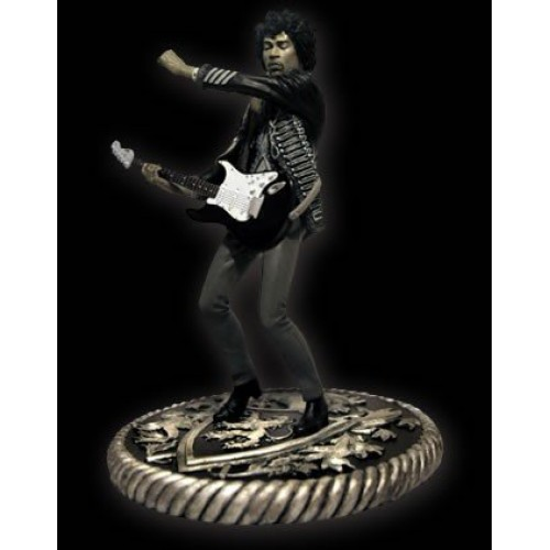 JIMI HENDRIX NOSTALGIA BLACK AND WHITE ROCK ICONZ STATUE 1