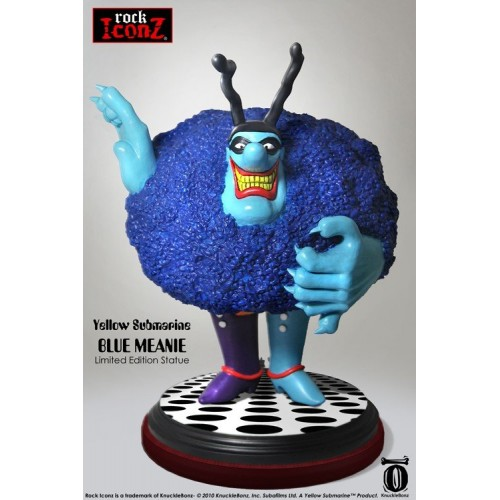 STATUE ICÔNE DU ROCK THE BEATLES YELLOW SUBMARINE BLUE MEANIE 1