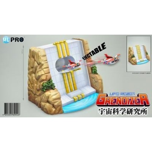 GRENDIZER/UFO ROBOT DIECAST WATERFALLS BASE WITH EJECTABLE SAUCER 1