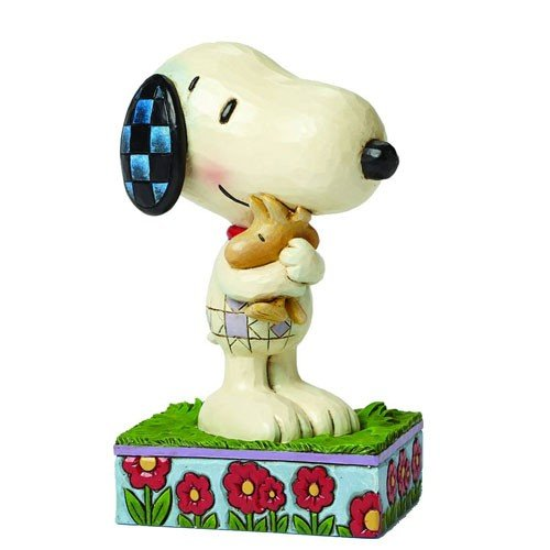 STATUE PEANUTS SNOOPY AND WOODSTOCK CALIN 1