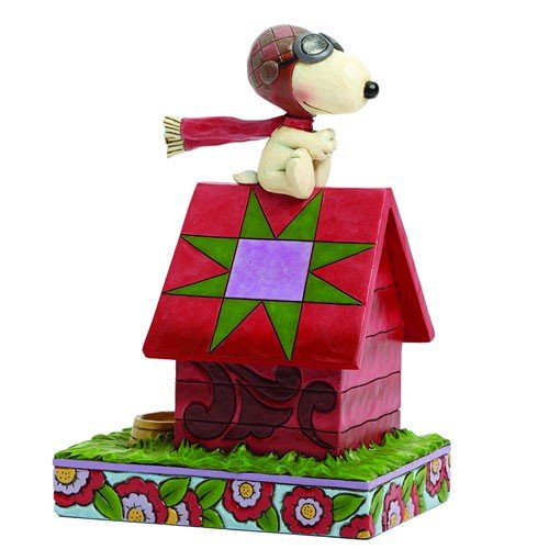 PEANUTS TRADITION SNOOPY FLYING ACE STATUE 1