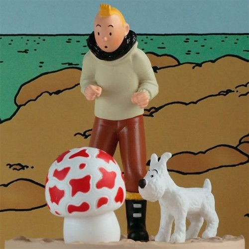 TINTINBOX SCENE TINTIN AND SNOWY AVIATOR 1