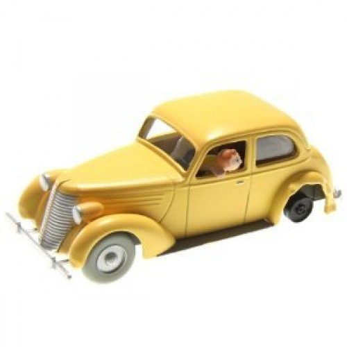TINTIN VEHICLE CRASHED CAR THE CRAB WITH THE GOLDEN CLAWS DIECAST 1/43 SCALE 1