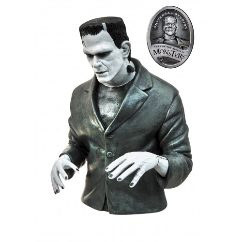 UNIVERSAL MONSTERS B&W FRANKENSTEIN BUST BANK 1
