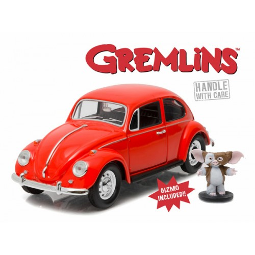 1967 VOLKSWAGON BEETLE WITH GIZMO FIGURE GREMLINS 1/24 SCALE DIECAST VEHICLE 1