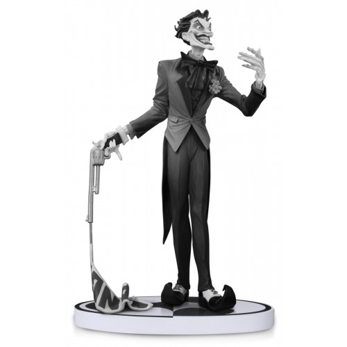 BATMAN BLACK & WHITE STATUE JOKER BY JIM LEE 2ND ED 1