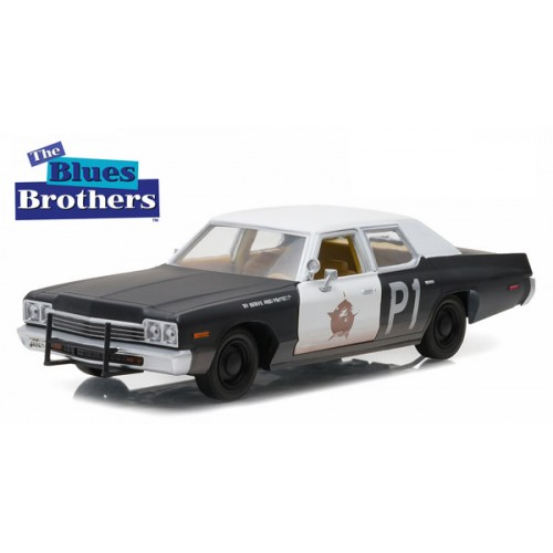 BLUES BROTHERS (1980) BLUESMOBILE 1974 DODGE MONACO 1/24 SCALE DIECAST VEHICLE 1