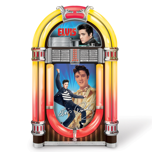 ELVIS PRESLEY ROCK FOREVER JUKEBOX STATUE 1