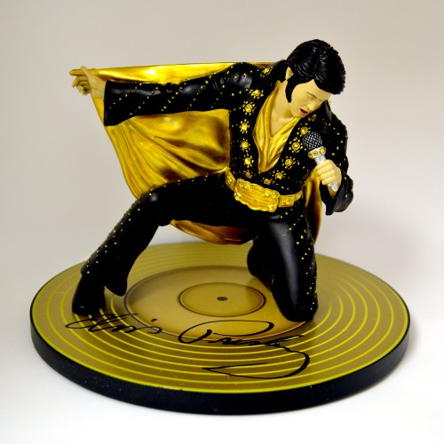 ELVIS PRESLEY ROCKING WITH ROYALTY STATUE 1