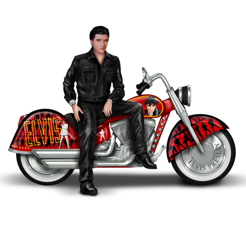ELVIS RIDING WITH THE KING STATUE 1