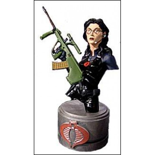 G.I. JOE BARONESS BLACK SUIT RESIN BUST 1