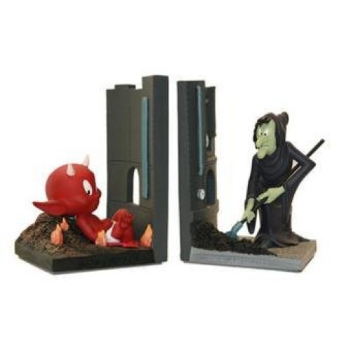 HOT STUFF THE LITTLE DEVIL AND WITCH BOOKENDS SET DEMONS ET MERVEILLES 1