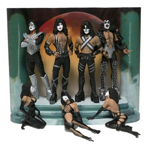 ENSEMBLE FIGURINE KISS COUVERTURE D'ALBUM LOVE GUN 1