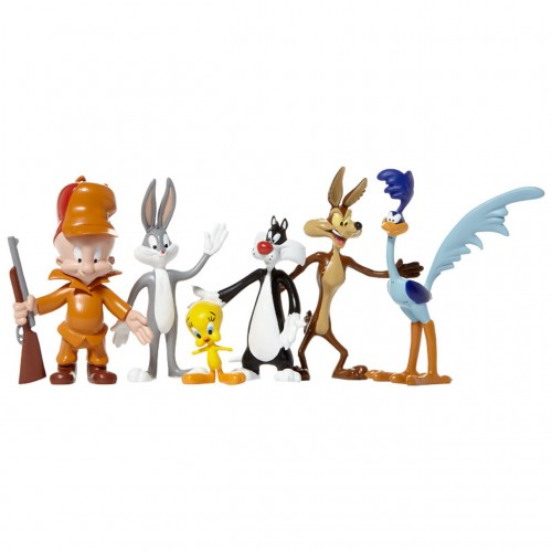 ENSEMBLE DE 6 FIGURINES FLEXIBLES LOONEY TUNE 1