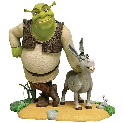 SHREK AND DONKEY 10 INCH STATUE LIMITED EDITION 1