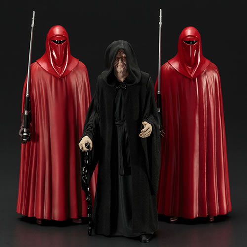 STAR WARS ARTFX+ EMPEROR PALPATINE AND ROYAL GUARDS 3 PCAK STATUE 1/10 SCALE 1