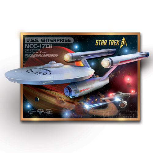 Star Trek U.S.S. ENTERPRISE 50TH ANNIVERSARY SCULPTURE 1