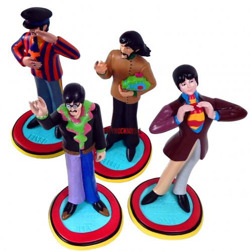 STATUE ROCK ICONZ THE BEATLES ENSEMBLE DES 4 MEMBRES 1