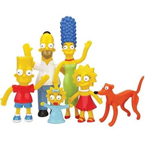 THE SIMPSONS FAMILY BENDABLE FIGURES BOXED SET 1