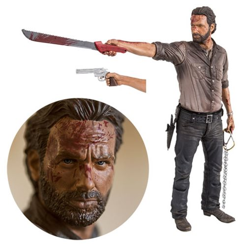 FIGURINE THE WALKING DEAD TV RICK GRIMES VIGILANTE ÈDITION 10 POUCES 1