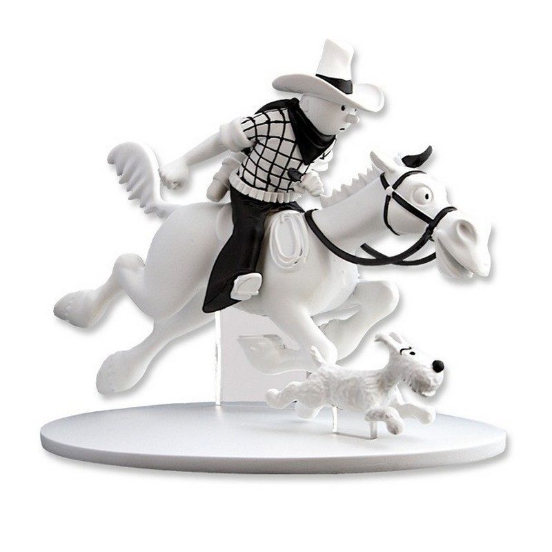 TINTIN COWBOY AND SNOWY IN AMERICA STATUE 1
