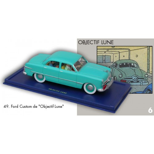 TINTIN DESTINATION MOON BLUE FORD BLUE BOX DIECAST 1/43 SCALE VEHICLE 1