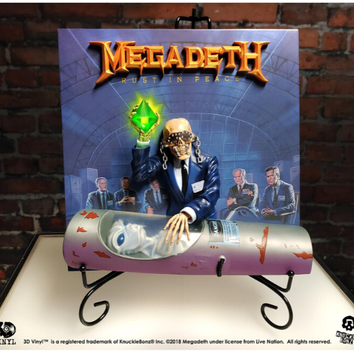 STATUE ALBUM VINYLE EN 3D MEGADETH REST IN PEACE 1