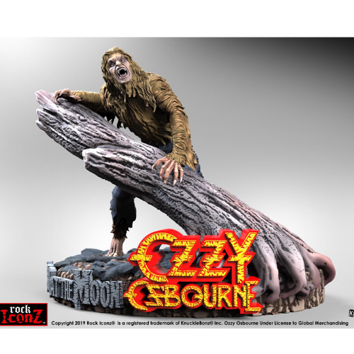 Ozzy Osbourne BARK AT THE MOON Rock Iconz STATUE 1