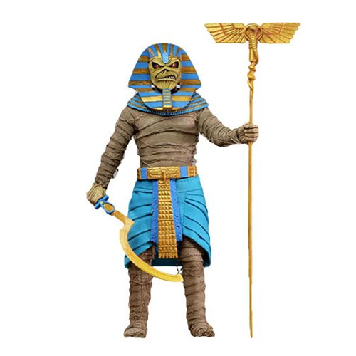 Iron Maiden PHAROAH EDDI 8 INCH RETRO CLOTHED FIGURE 1