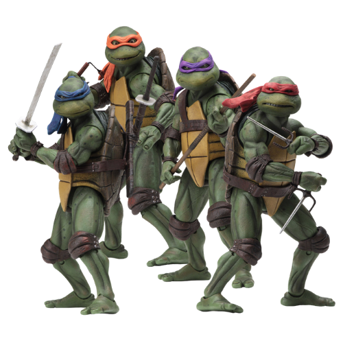 TEENAGE MUTANT NINJA TURTLES 1990 MOVIE SET OF 4 FIGURE 1