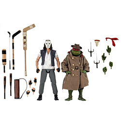 FIGURINE TORTUES NINJA Casey Jones ET RAPHAEL DÉGUISÉ DU FILM DE 1990 ENSEMBLE DE 2 1