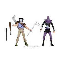 FIGURINE TORTUES NINJA DU DESSIN ANIMÉ Casey Jones ET FOOT SOLDIER ENSEMBLE DE 2 1