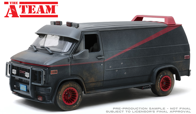 A-TEAM B.A.'s 1983 GMC VANDURA (Weathered Version with Bullet Holes) 1:18 SCALE DIECAST VEHICLE 1