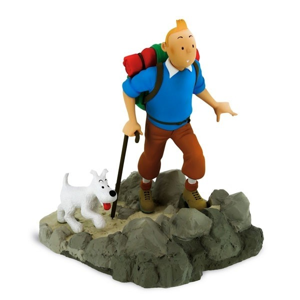 TINTIN AND SNOWY HIKER STATUE 1