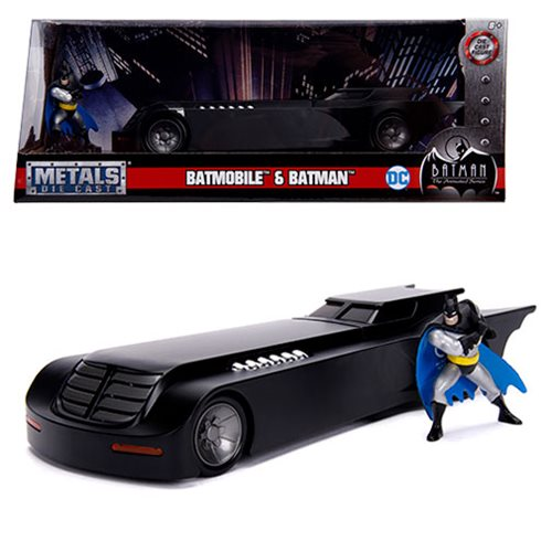 BATMAN THE ANIMATED SERIES BATMOBILE WITH FIGURE 1/24 SCALE DIECAST VEHICLE 1