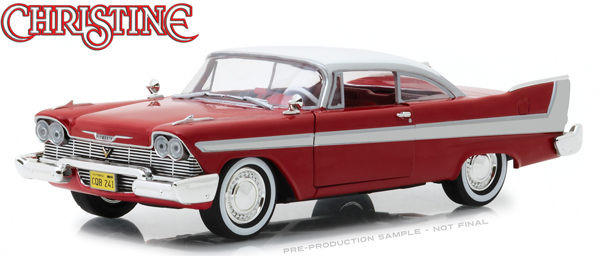 CHRISTINE STEPHEN KING 1958 PLYMOUTH FURY 1/24 SCALE DIECAST VEHICLE 1