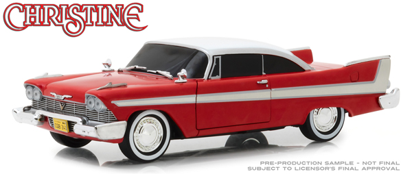 CHRISTINE STEPHEN KING 1958 PLYMOUTH FURY EVIL VERSION WITH BLACKED-OUT WINDOW 1/24 SCALE DIECAST VEHICLE 1