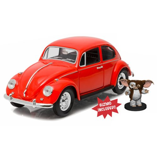 GREMLINS 1967 VOLKSWAGEN BEETLE WITH GIZMO FIGURE 1/24 SCALE DIECAST VEHICLE 1