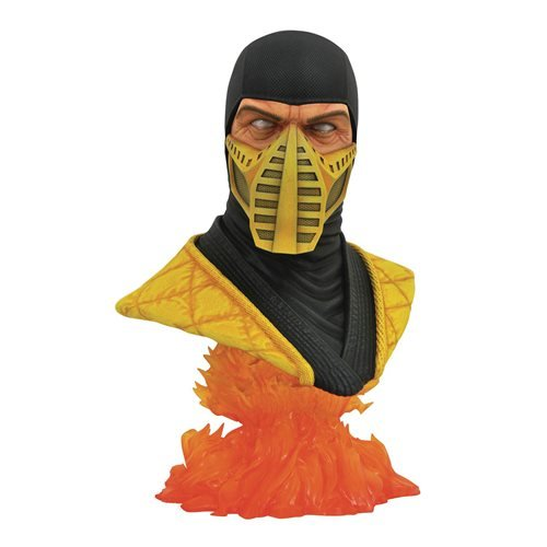 LEGENDS IN 3D MORTAL KOMBAT SCORPION 1/2 SCALE BUST 1