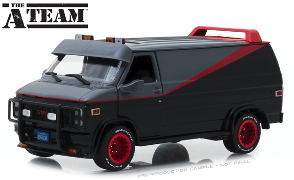 THE A/TEAM B.A.'S 1983 GMC VANDURA 1/24 SCALE DIECAST VEHICLE 1