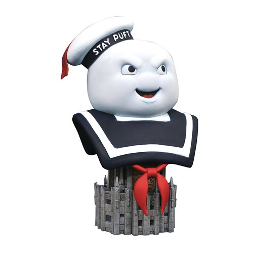GHOSTBUSTERS LEGENDS IN 3D STAY PUFF MARSHMALLOW MAN 1/2 SCALE BUST 1