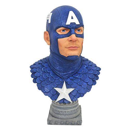 LEGENDS IN 3D MARVEL COMIC CAPTAIN AMERICA 1/2 SCALE BUST 1