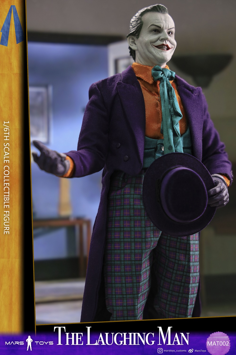 BATMAN 1989 JOKER THE LAUGHING MAN JACK NICHOLSON 1/6 SCALE FIGURE 5