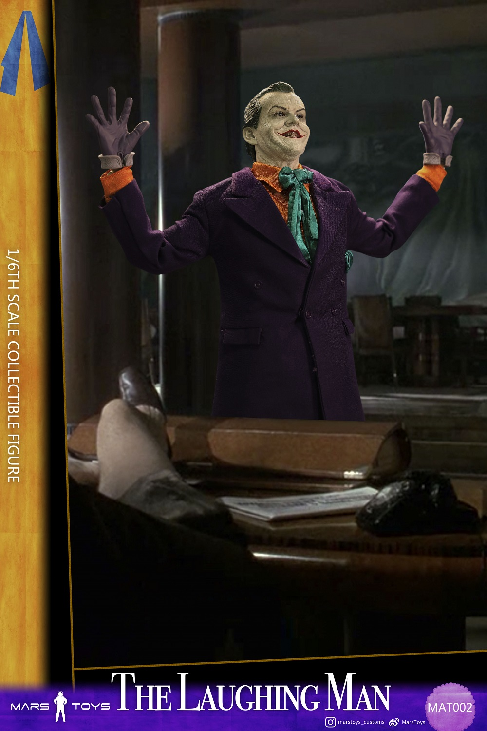 BATMAN 1989 JOKER THE LAUGHING MAN JACK NICHOLSON 1/6 SCALE FIGURE 6