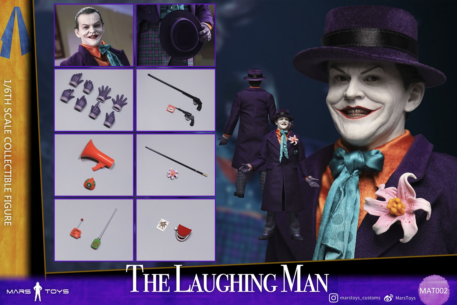 BATMAN 1989 JOKER THE LAUGHING MAN JACK NICHOLSON 1/6 SCALE FIGURE 2