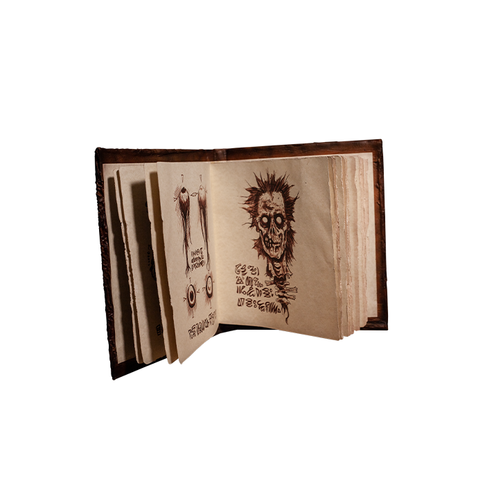 EVIL DEAD 2 THE BOOK OF THE DEAD NECRONOMICONWITH REAL PAGES PROP REPLICA 2